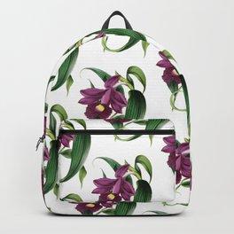 Purple Orchids Vintage Backpack