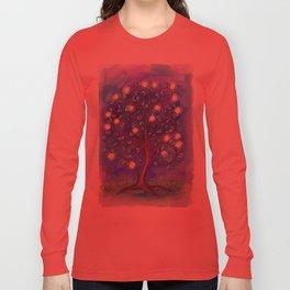 Blue Mystic Tree Long Sleeve T-shirt