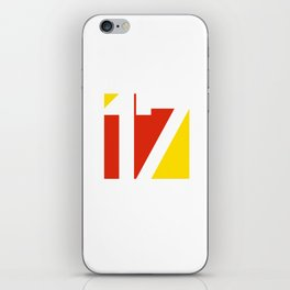 17 in Red and Gold iPhone Skin