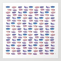 Purple Boats Art Print