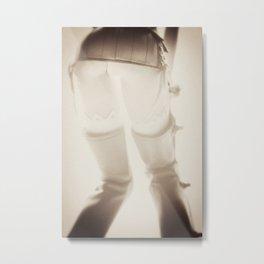 Plastic Erotica: Chaps Metal Print
