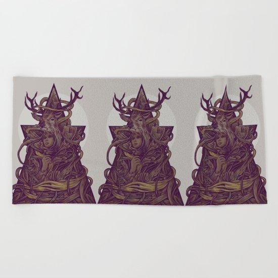 Beautiful Deer Beach Towel
