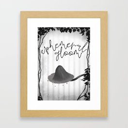 Ephemeral gloom Framed Art Print