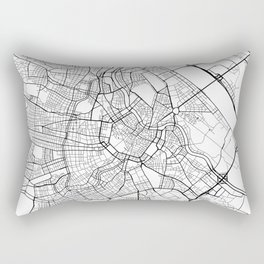 Vienna Map, Austria - Black and White  Rectangular Pillow