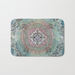 the four directions, a medicine wheel Bath Mat