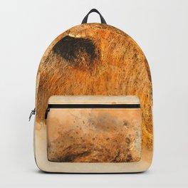 Lion Fierce Roar Splatter Backpack