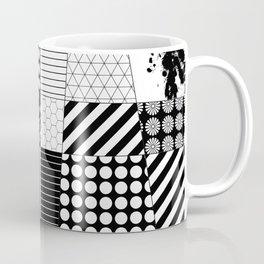 Mosaic Contrast - Black and white, geometric design Coffee Mug
