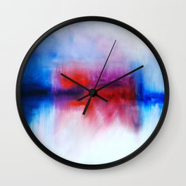Fallen Clouds by Nadia J Art Wall Clock