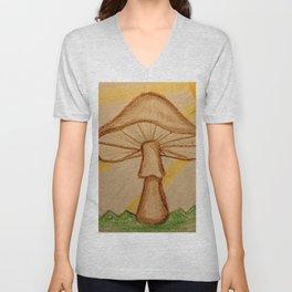 Mushrooms in the sun Unisex V-Neck