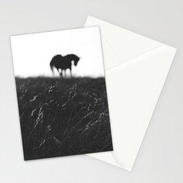 Horses on horizon Stationery Cards