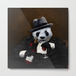 PANDA with Tuxedo iPhone 4 4s 5 5c 6 7, pillow case, mugs and tshirt Metal Print