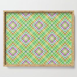 Green Neon Plaid Serving Tray
