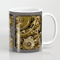 jeep Mugs featuring Steampunk Jeep with Gear machines iPhone 4 4s 5 5c 6, pillow case, mugs and tshirt by Greenlight8