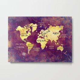 world map 17 Metal Print