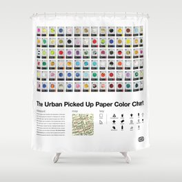 The Urban Picked Up Paper Color Chart Shower Curtain