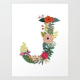 Monogram Letter J Art Print