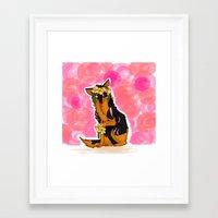senna Framed Art Prints featuring Senna by Vespulite