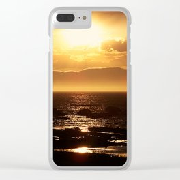 Silver lining on Clouds at Sunset Clear iPhone Case