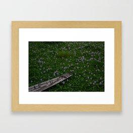 Fishing Boat on Inle Lake Framed Art Print