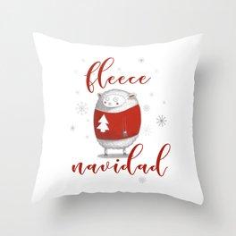 Fleece Navidad Throw Pillow