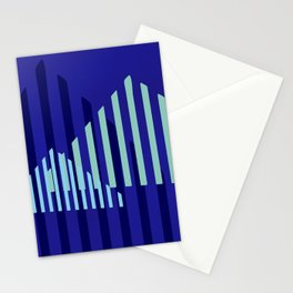 Abstract Blue Peaks Minimalism Stationery Cards