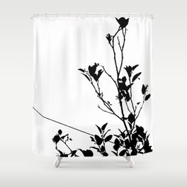 Botanical Contrast Shower Curtain