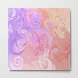 Sunset Swirl Metal Print