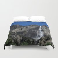 yosemite Duvet Covers featuring Yosemite Falls by CJ Thornburg
