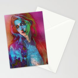 Galaxy Grunge Stationery Cards