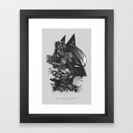 The Caped Crusader Framed Art Print