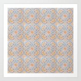 Tile Pattern Mexico II Art Print