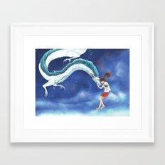 spirited away - fan art Framed Art Print