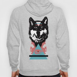 Hipster Wolf Hoody