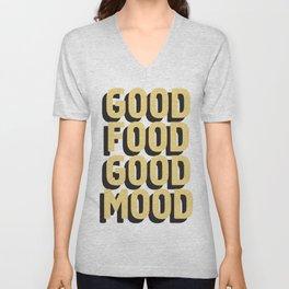 GOOD FOOD GOOD MOOD Unisex V-Neck