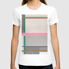 Green line - color square T-shirt