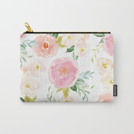 """Sweet Pink Blooms (""""Floral 02"""" update) Carry-All Pouch"""