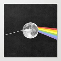 dark side of the moon Canvas Prints featuring Dark Side of the Moon. by Nick Nelson
