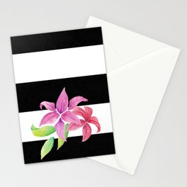 Stripes & Flowers Stationery Cards