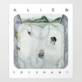ALIEN: COVENANT's white room  Art Print