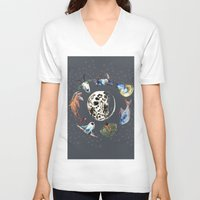 cosmic V-neck T-shirts featuring Cosmic by AnnaW
