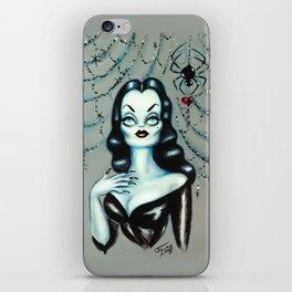 Vampira Black Widow Valentine iPhone Skin