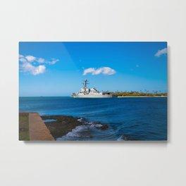 Navy ship 3 Metal Print