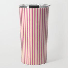 Raspberry Stripes Travel Mug