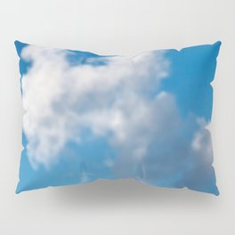 Dreaming floating candy on blue Pillow Sham