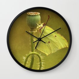 Summer Poppies Wall Clock