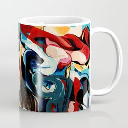 Expressive Abstract Composition painting Coffee Mug