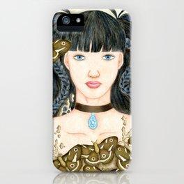 Moth Girl iPhone Case