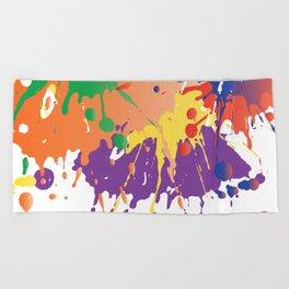 Colourful Paint splash Beach Towel
