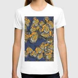 Butterfly Frenzy Spring Navy T-shirt
