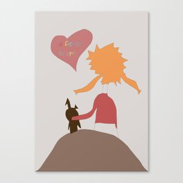 Art for kids, Friendship Canvas Print